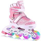 WeSkate Rollers Enfant Comfortable avec Roues Lumineuses Patins à...