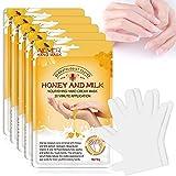 5 pares de guantes hidratantes para manos, mascarilla para renovar las manos, reparación de la piel ...