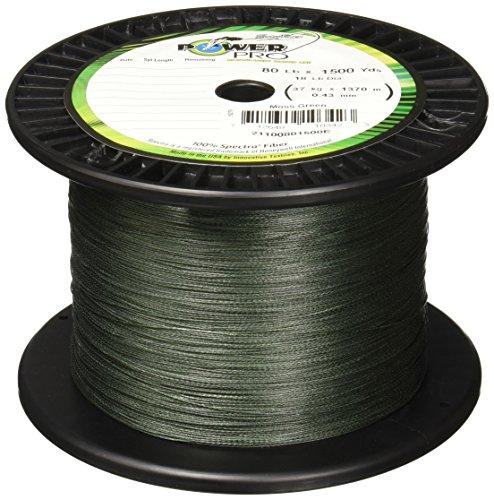 Power Pro Spectra Fiber Braided Fishing Line, Moss Green, 300YD/40LB