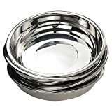 Doryh 18/10 Stainless Steel Dinner Plates Dishes Set, Round Camping Plates, 8.65-Inch/Set of 4