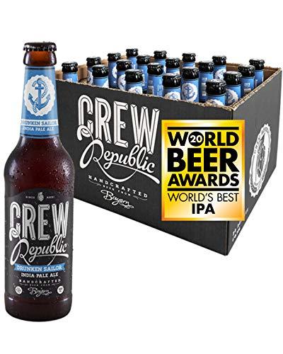 CREW REPUBLIC® Drunken Sailor - India Pale Ale Craft Bier   Gewinner World Beer Awards World's Best IPA 2020   Hopfig   Bierspezialität nach deutschem Reinheitsgebot in Bayern gebraut (20 x 0,33l)