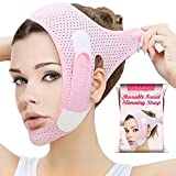 Double Chin Reducer, Face Slimming Strap, V Line Lifting Mask Chin Strap for Women and Men, Anti-Wrinkle Face Mask for Double Chin and Saggy Face Skin
