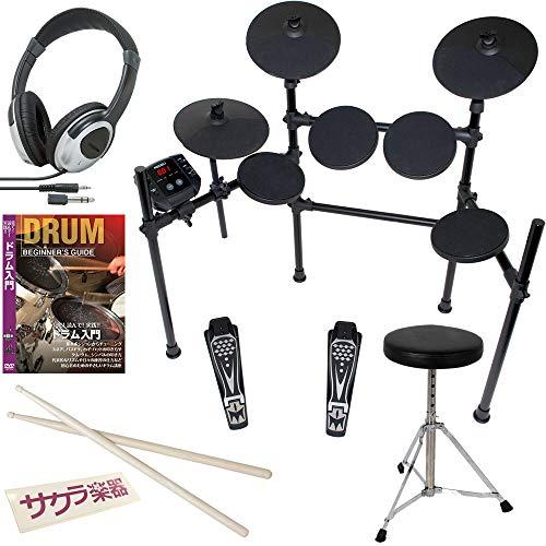 MEDELI 電子ドラム DD401J-DIY(教則DVD/椅子/スティック/ヘッドフォン)セット