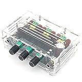 WINGONEER TPA3116 D2 80W+80W+100W 2.1 Channel Digital Power Amplifier Board Bass Subwoofer Treble Bass Regulating Ne5532 Pre Amplifier