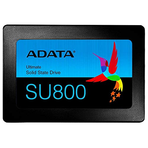 ADATA Ultimate SU800 - 256 GB, interne Solid-State-Drive mit 3D-NAND-Flash, 2.5 Zoll, schwarz