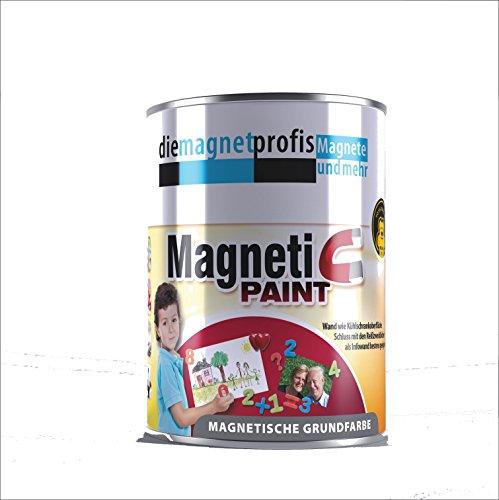 Magnetfarbe, extreme Haftkraft, allergikerfreundliche Wandfarbe für Innenräume,ohne Konservierungsmittel grau, 1 Liter