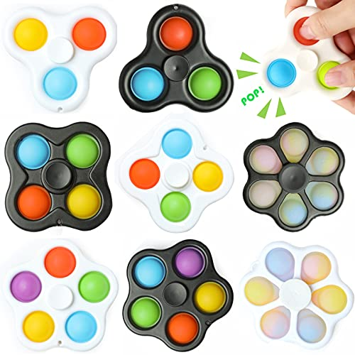 Simple Dimple Fidget Spinner Toys for Kids 8 Pack, ADHD...
