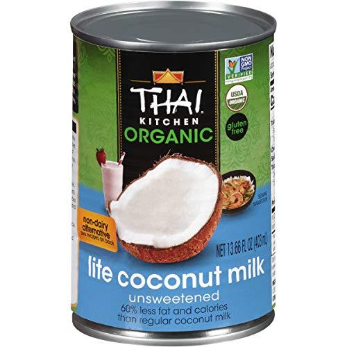 Thai Kitchen Organic Gluten Free Lite Coconut Milk, 13.66 fl oz (Pack of 6)