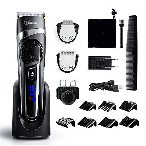 Hatteker Tagliacapelli professionale Regolabarba e Tagliacapelli, Lavabile, pettine per i capelli o barba