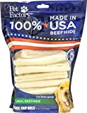 Pet Factory 78704 Beefhide   Dog Chews, 99% Digestive, Rawhides to Keep Dogs Busy While Enjoying, 100% Natural Flavored Rolls, Pack of 22 in 5' Size, Made in USA