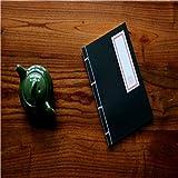 Capook -Chinese estilo tradicional antiguo antiguo cuaderno de la caligrafía cuaderno hecho a mano de costura diario Kungfu Bloc de notas (rojo) Bloc (Color : Black)