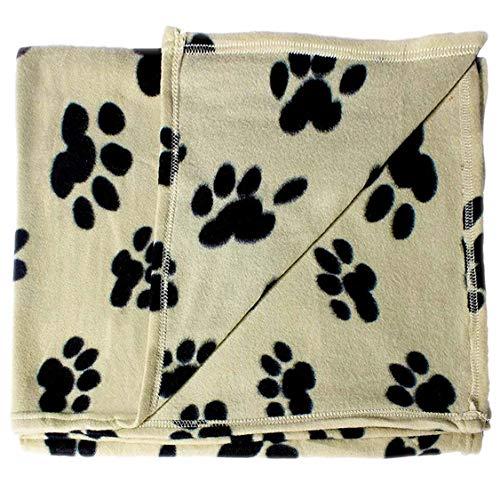 bogo Brands Large Fleece Pet Blanket with Paw...