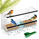 LIVN LIFE Most Complete Window Bird Feeders with 4 Strong Suction Cups. This Window Bird Feeder Or...