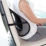 Jiya Enterprise Universal Black Back Lumbar Support Cushion For Chair And Cars (set of 2)