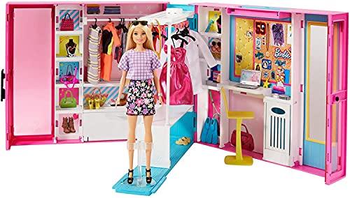Barbie L'armadio dei sogni con bambola Barbie bionda e 25+ pezzi