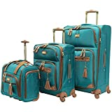 Steve Madden Designer Luggage Collection- 3 Piece Softside Expandable Lightweight Spinner Suitcases-...