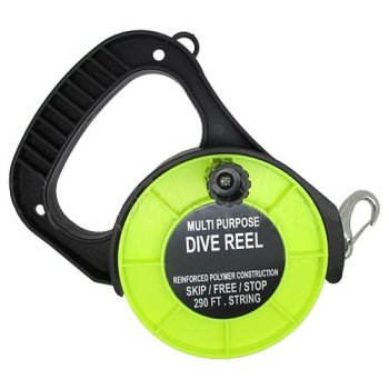 Scuba Choice Scuba Diving Multi Purpose Dive Reel, 290', Yellow