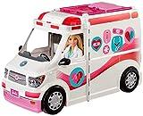 Barbie Ambulancia Hospital 2 en 1, accesorios de muñecas (Mattel FRM19)
