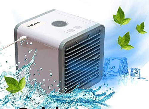 Palmer Personal Space Air Coolers for Room - Portable USB Mini Air Conditioner for Camping & Car –– Small Humidifying Cool Air Cube Conditioner Fan Indoor & Outdoor – Table Top Mini Air Conditioner