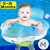 Camlinbo 【Anti Rollover】 Baby Pool Floats Swimming Ring with Safe Seat & Backrest, Inflatable Baby Swimming Float, Swimming Pool Accessories-Newborn Baby Kid Toddler (S-5-18Months (11-26.5lbs)) (M)