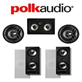 Polk Audio 265-RT + Polk Audio V60 + Polk Audio 255C-RT 5.0 Vanishing Series in-Wall/in-Ceiling Home Theater System