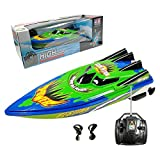 Multifit Remote Control Boats for Pool and Lakes High Speed Racing Fast Boat for Kids Outdoor Sports (Green)