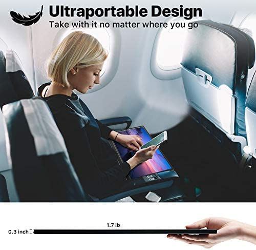 Portable Monitor - KYY 15.6'' FHD 1080P Portable Laptop Monitor USB C HDMI Gaming Monitor Ultra-Slim IPS Display w/Smart Cover & Speakers, Plug&Play, External Monitor for Laptop PC Phone Mac Xbox PS4 18