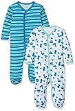 Care - Pyjama - Bébé garçon - Lot de 2, Vert (Jade Green 951), 12 mois (Taille fabricant 80)