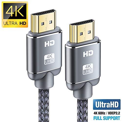 Cavo HDMI 4K 2m, Snowkids Cavi HDMI 2.0 a/b ad alta Velocit con Ethernet, Supporta 4K 60Hz HDR...