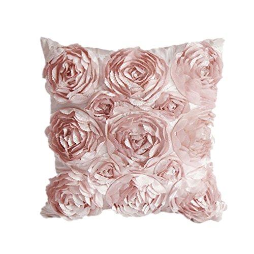 Cosanter - 1 x Rose Fiori Design Federa per Cuscino Guanciale in Lino Divano Decorativo per la...