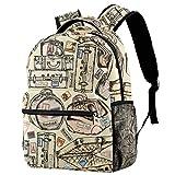 Mochilas escolares de 16 pulgadas para estudiantes, bolsa de viaje, básica, para computadora portátil, maletas antiguas