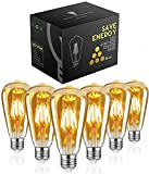 Ampoule Edison,Woowtt Ampoule Led E27, 6W Ampoule LED Vintage, Ampoule LED...