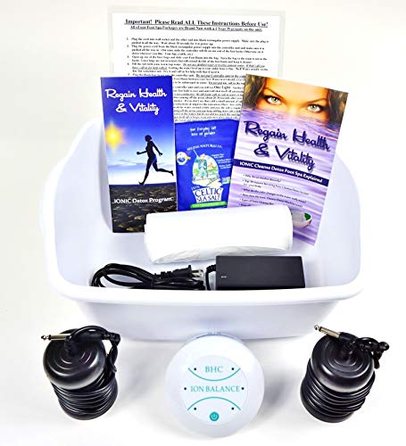 Ionic Foot Cleanse Ion Detox Foot Bath Machine. Foot Spa Bath for Home Use. Free Regain Health & Vitality Booklet & Brochure!