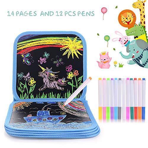 HellDoler Portatile da Disegno per Bambini, Doodle Disegno Giocattoli Libro di Pittura per Bambini...
