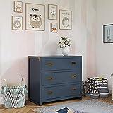 Baby Relax Miles 3-Drawer Dresser, Graphite Blue