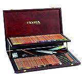 Lyra Coffret bois de 105 crayons de couleur Polycolor avec accessoires,...
