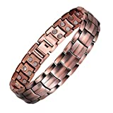 Copper and Magnetic Bracelet for Men Large Copper Bracelet 8.5' Adjustable Pain Relief for Arthritis and Carpal Tunnel Migraines Tennis Elbow
