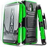 Droid Turbo 2 Case, Evocel [Generation Series] Belt Clip Holster, Kickstand, HD Screen Protector, Dual Layer for Motorola Droid Turbo 2 (XT1585/ 2015 Release), Green (EVO-MOTXT1585-AB212)