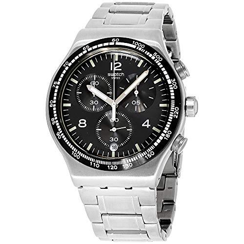 Swatch Herren Chronograph Quarz Uhr mit Edelstahl Armband YVS444G