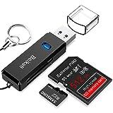 Beikell Lector de Tarjetas USB 3.0 de Memoria SD/Micro SD de Alta Velocidad con Llavero Portátil...