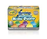 Crayola - 6 pots de peinture métallique lavable - Peinture et accessoires...