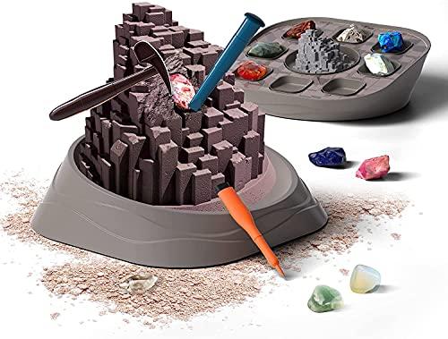 Science Can Kit de Fouille de Pierres Précieuses   Kit géologique STEM amusant et éducatif pour enfants   Véritables cristaux et minéraux naturels   Garçon et fille à partir de 6 ans