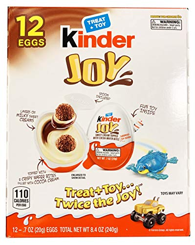 Kinder Joy Chocolate Egg Treat with Toy 12 Pack