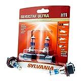 SYLVANIA H11 SilverStar Ultra High Performance Halogen Headlight Bulb, (Contains 2 Bulbs), White...