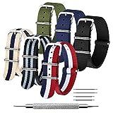 CIVO Bracelet de Montre 6 Paquet Bracelet NATO16mm 18mm 20mm 22mm 24mm Nylon...