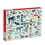 """Mudpuppy Hot Dogs A-Z Puzzle, 1,000 Piece Dog Jigsaw Puzzle, 27""""x20"""", Perfect for Ages 8-99+, Family Puzzle to Celebrate Dogs, Illustrations of 26 Dog Breeds, Great Gift for Dog Lovers"""