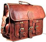 maletín de Cuero Bolsa de Mensajero portátil Bandolera para Hombres y Mujeres (15' Longitud X 11' Altura X 4' Anchura (Pulgada))
