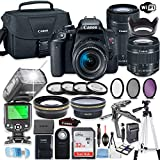Canon EOS Rebel T7i DSLR Camera Bundle with Canon EF-S 18-55mm STM Lens & EF 55-250mm STM Lens +...
