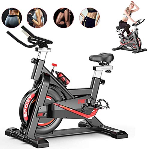 Fnova Exercise Bike Indoor Cycling for Home/Gym Use with Heart Rate Monitor, LCD Display, Pulse Sensors, Super Mute, UK STOCK