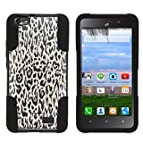 Compatible with Huawei Raven Case LTE | H892L [Gel Max] Dual Layer Hybrid Case Customized Hard Shell Kickstand by TurtleArmor - Fainted Leopard Print